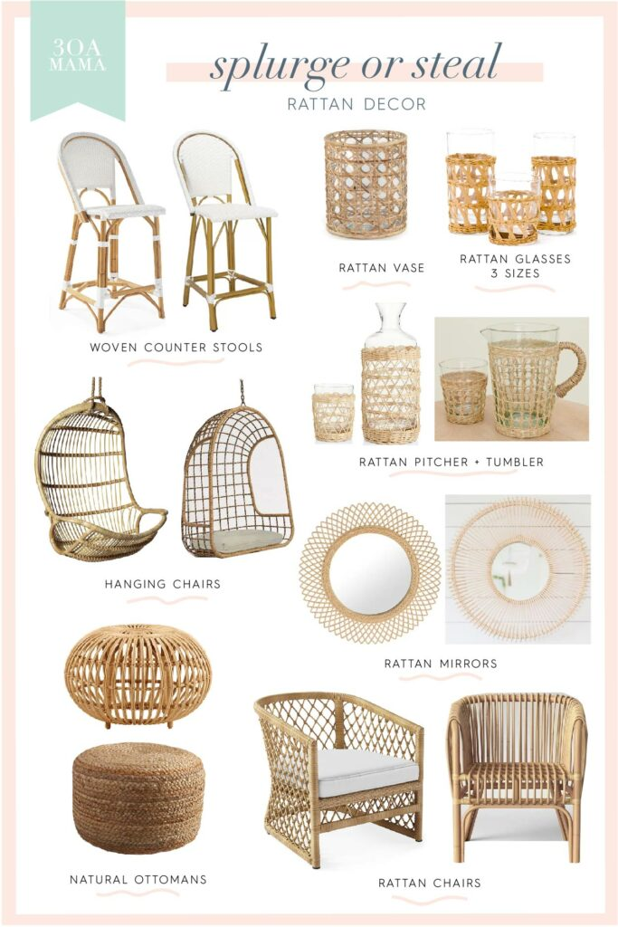 30A Mama Shopping - Home Splurge or Steal - Rattan Decor