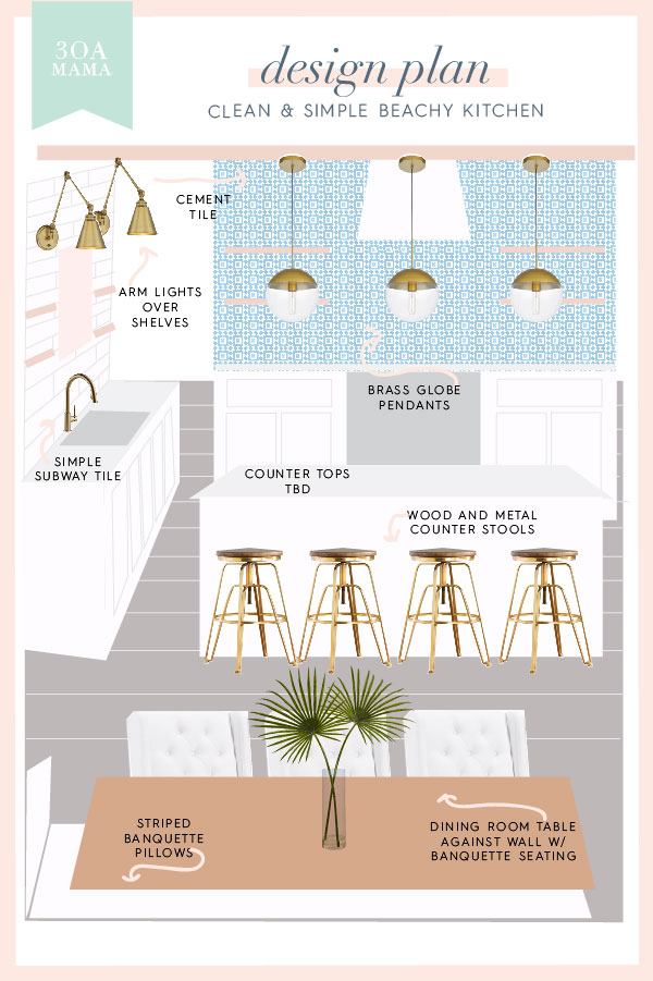 30A Mama Home - Simple Beachy Kitchen Design Plan