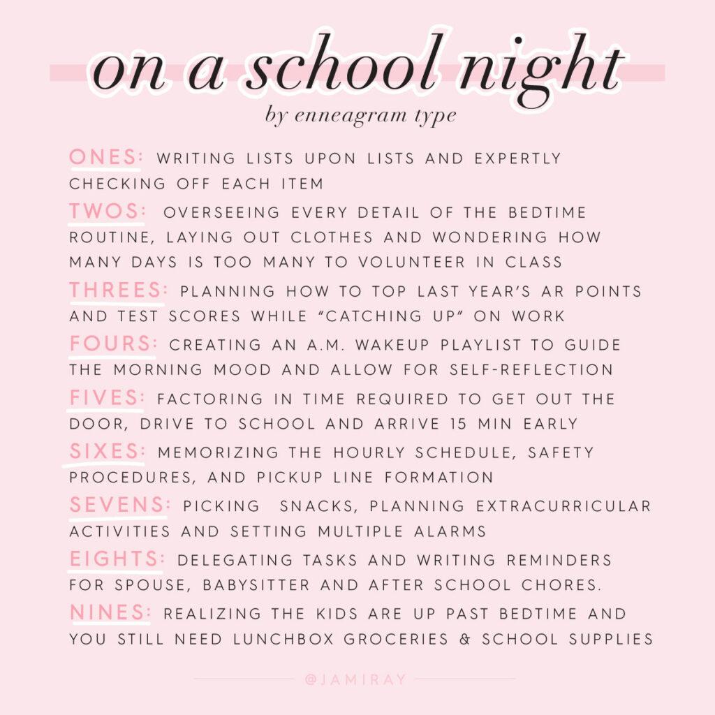 Enneagram for Moms - Back to School