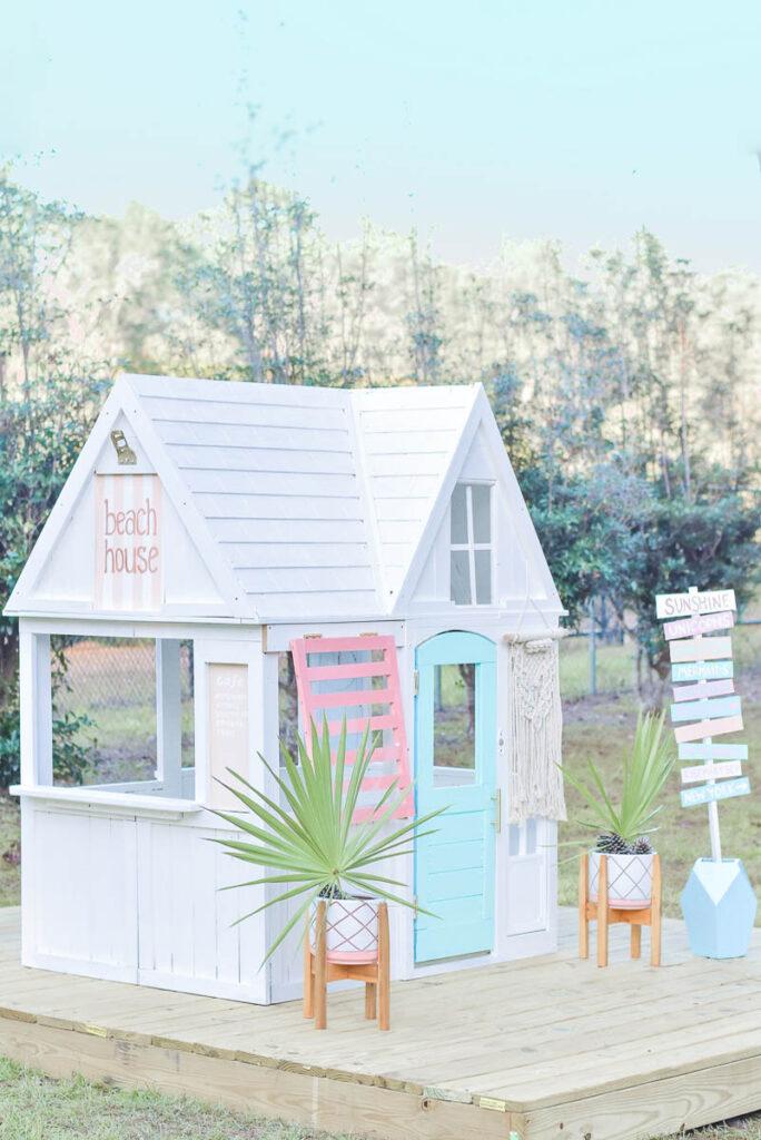 KidKraft Playhouse Makeover - Beach House 30A Mama