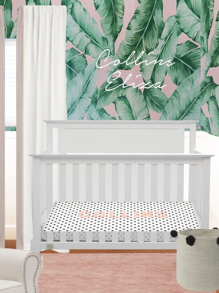 Nursery Design Plan palm print