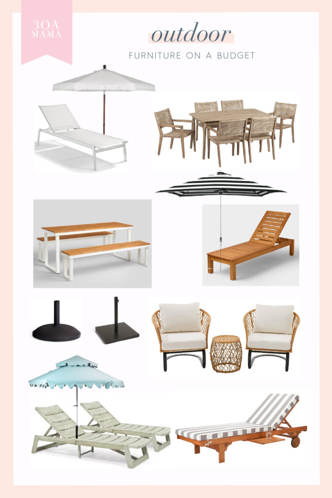 30A Mama Outdoor Furniture on a Budget