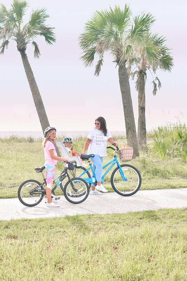30A Mama Jekyll Island family vacation - biking on Jekyll