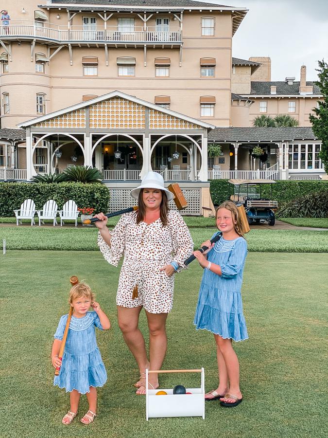 30A Mama Jekyll Island family vacation croquet