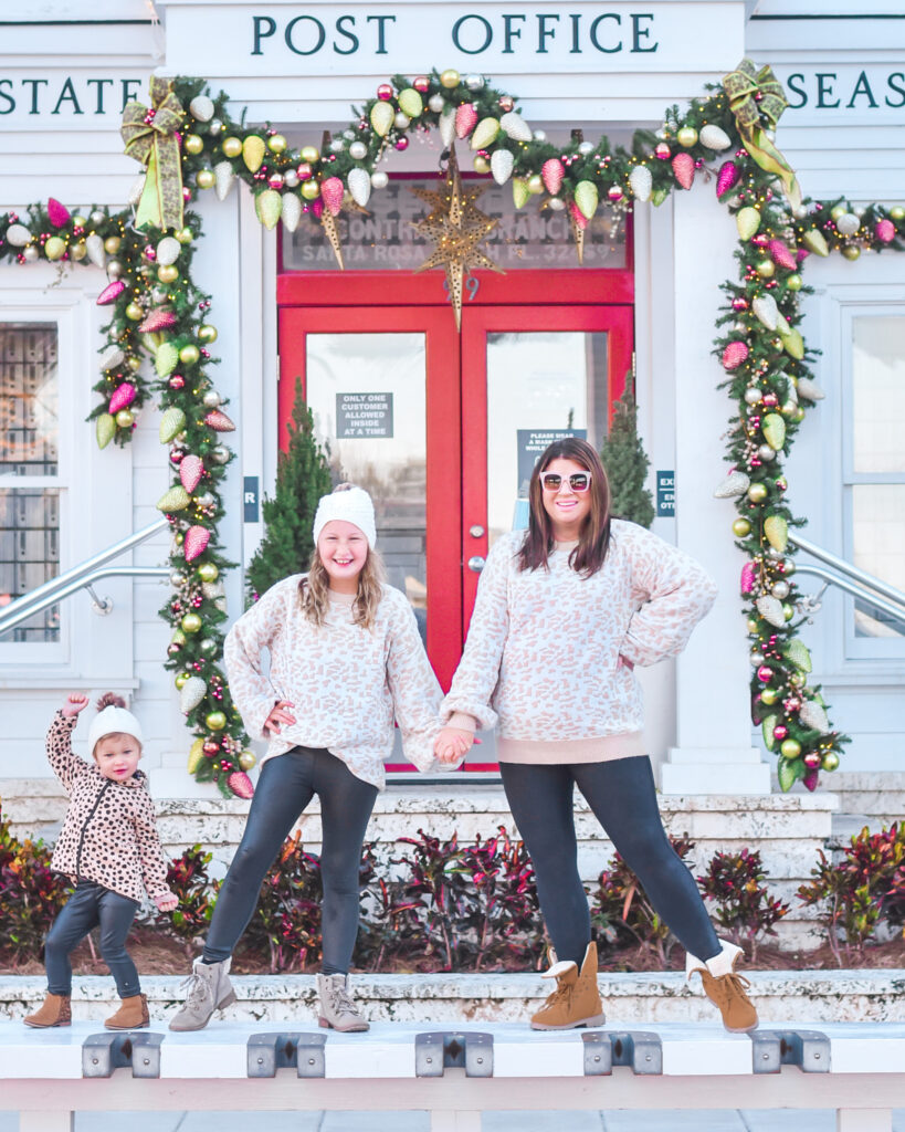 30A Mama Seaside Christmas Post Office Mommy and Me Christmas Sweater