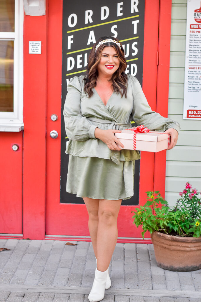 30A Mama Shop - Olive You Dress tiered holiday dress in Seaside