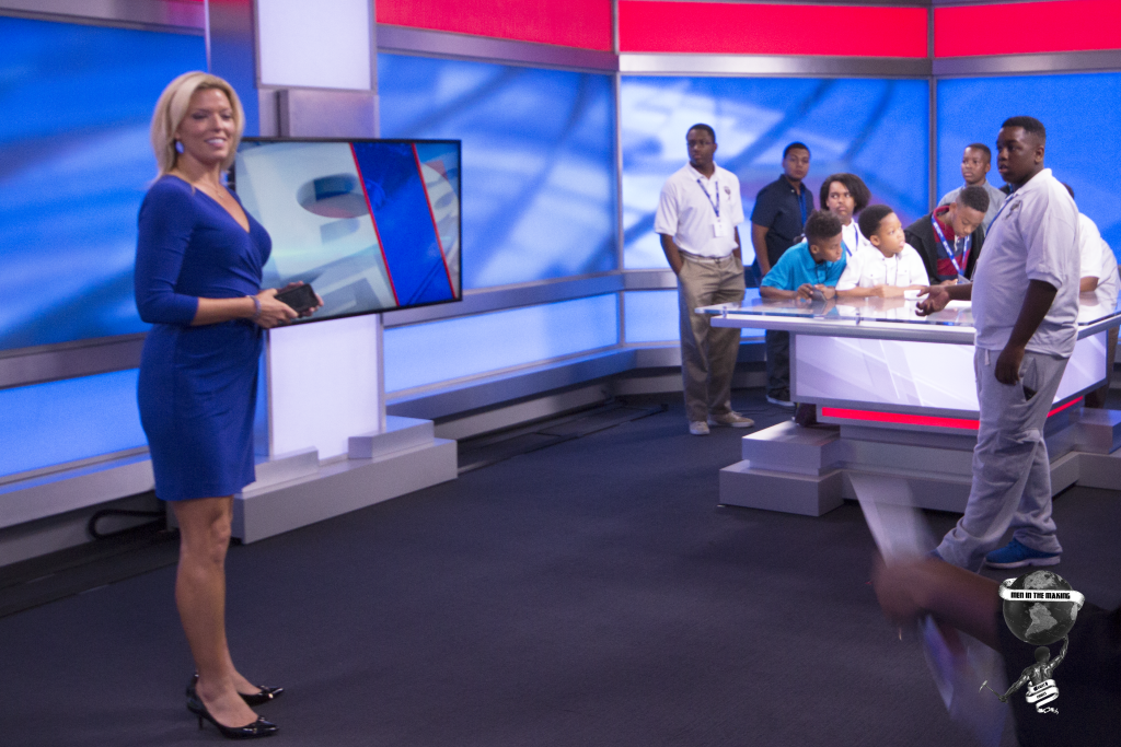 Bay News 9's Erica Riggins Shows Men In The Making The Newsroom