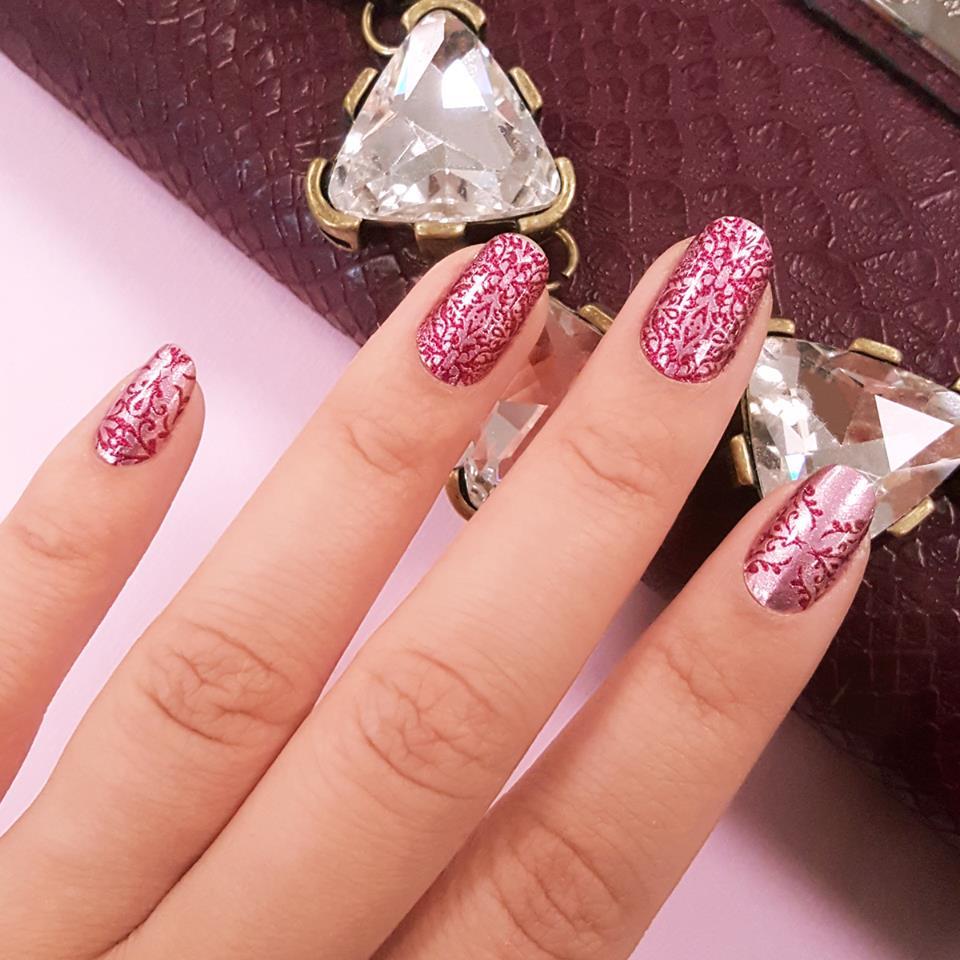 Incoco Pink Nail Art