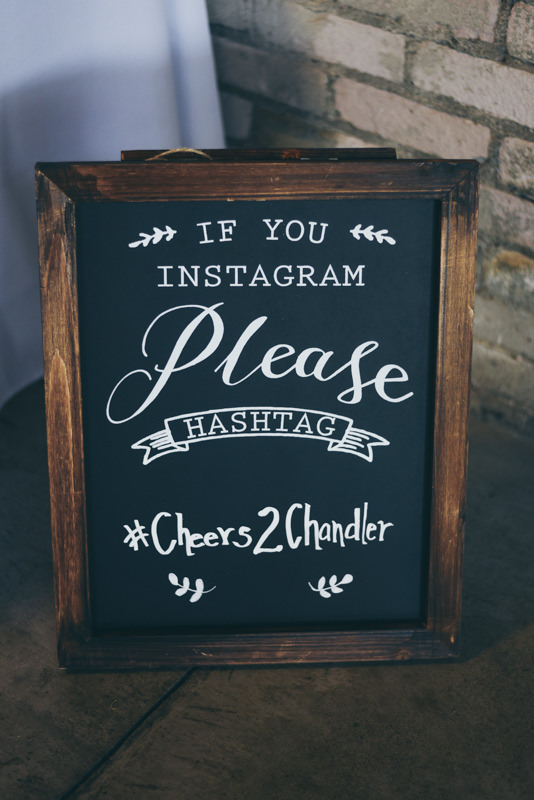 wooden custom instagram wedding board