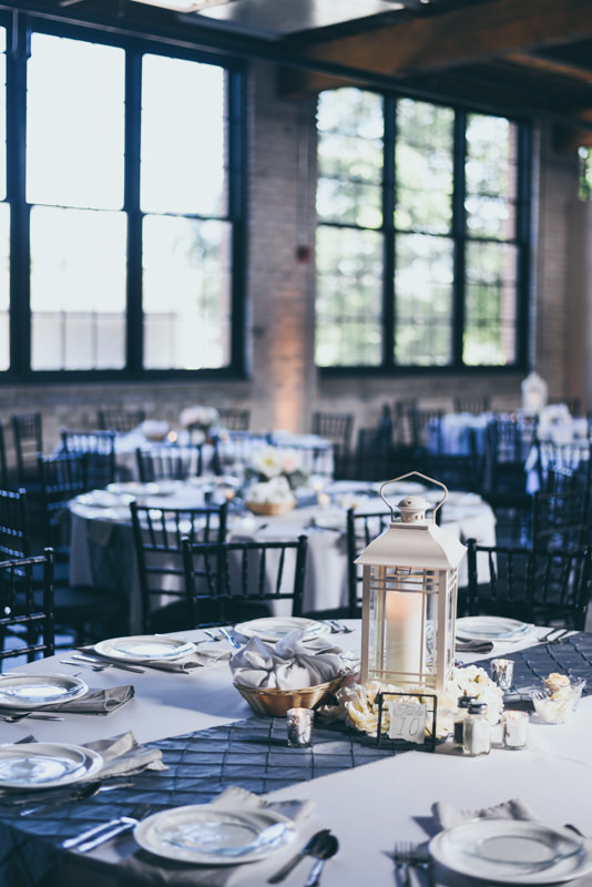 tablescape at wedding