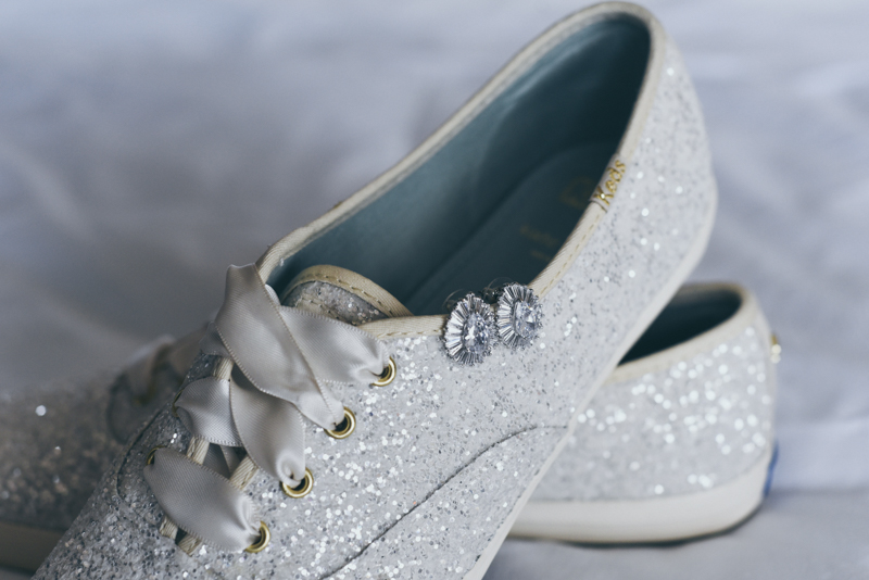 sparkling wedding tennis shoes with rhinestones