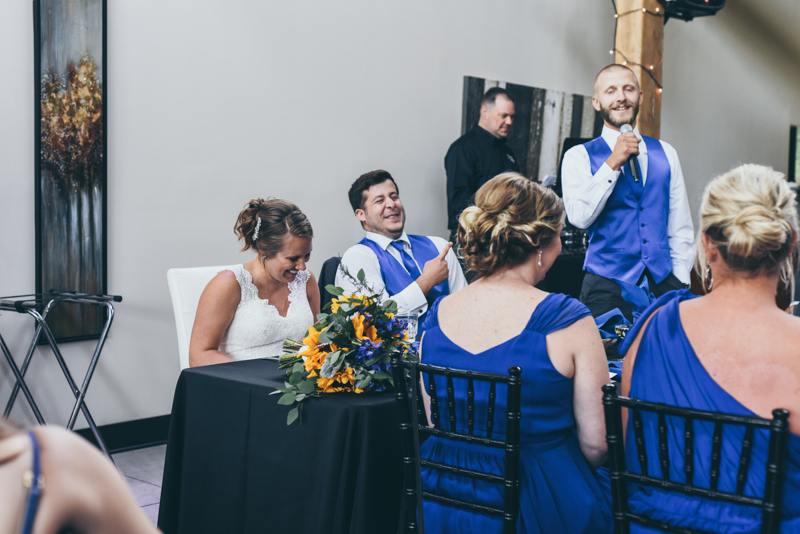 toasts during wedding reception