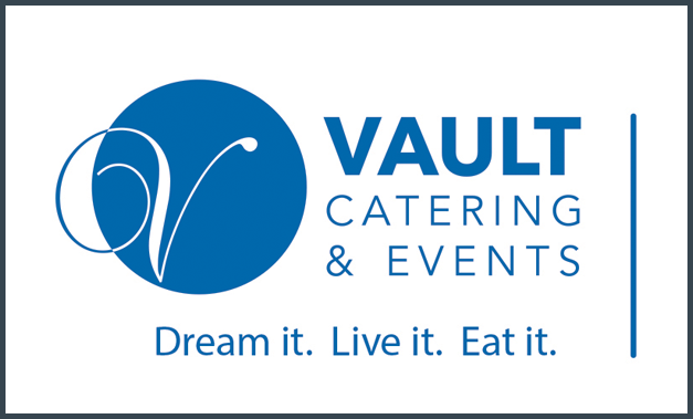 vault catering logo in blue