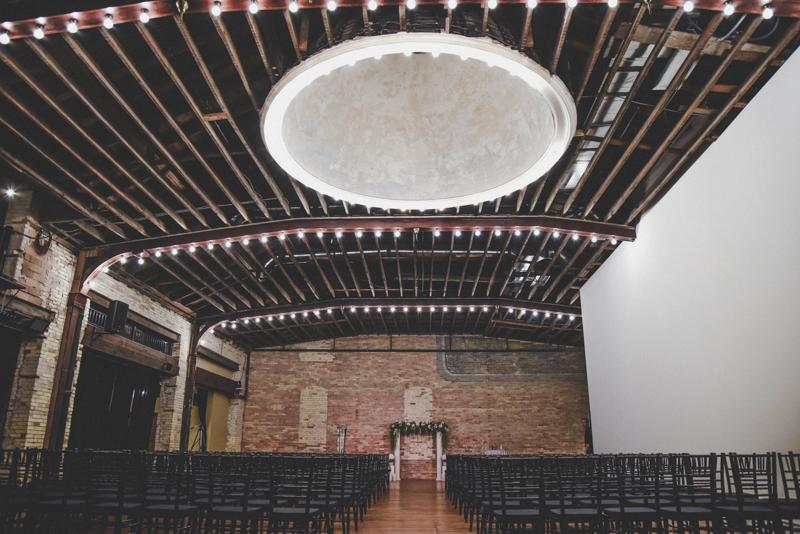 elegant industrial ballroom wedding venue