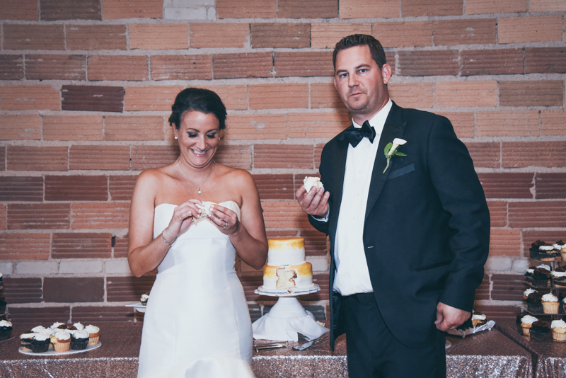 bride and groom at their reception