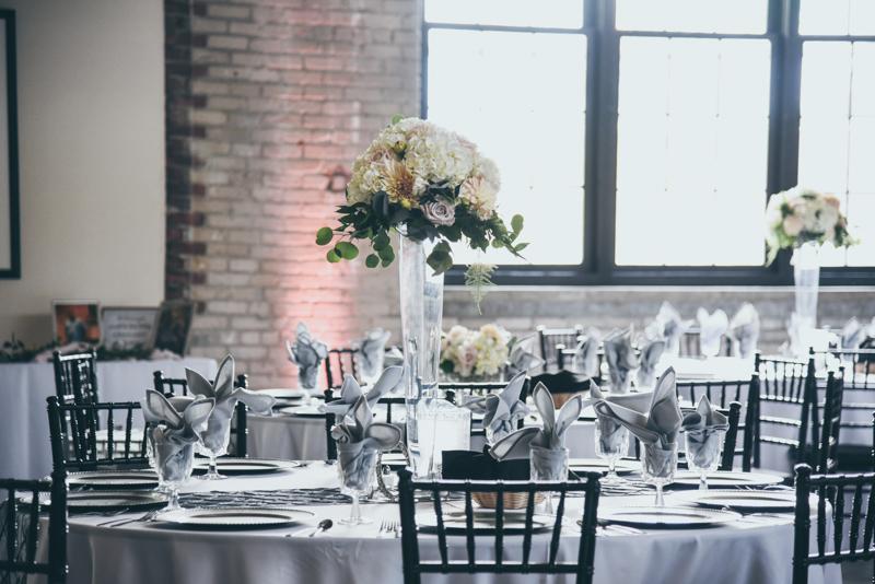 loft venue wedding reception