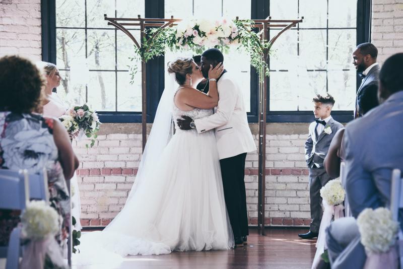 first kiss at a wedding