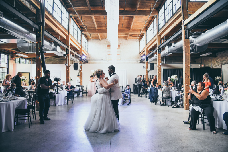 bride and grooms first dance at their reception