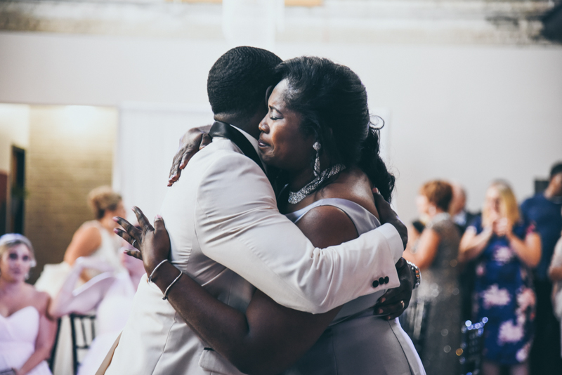 mother son dance at a reception