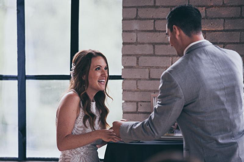 a city view wedding ceremony