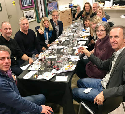Group Photo at Wine Tasting Event