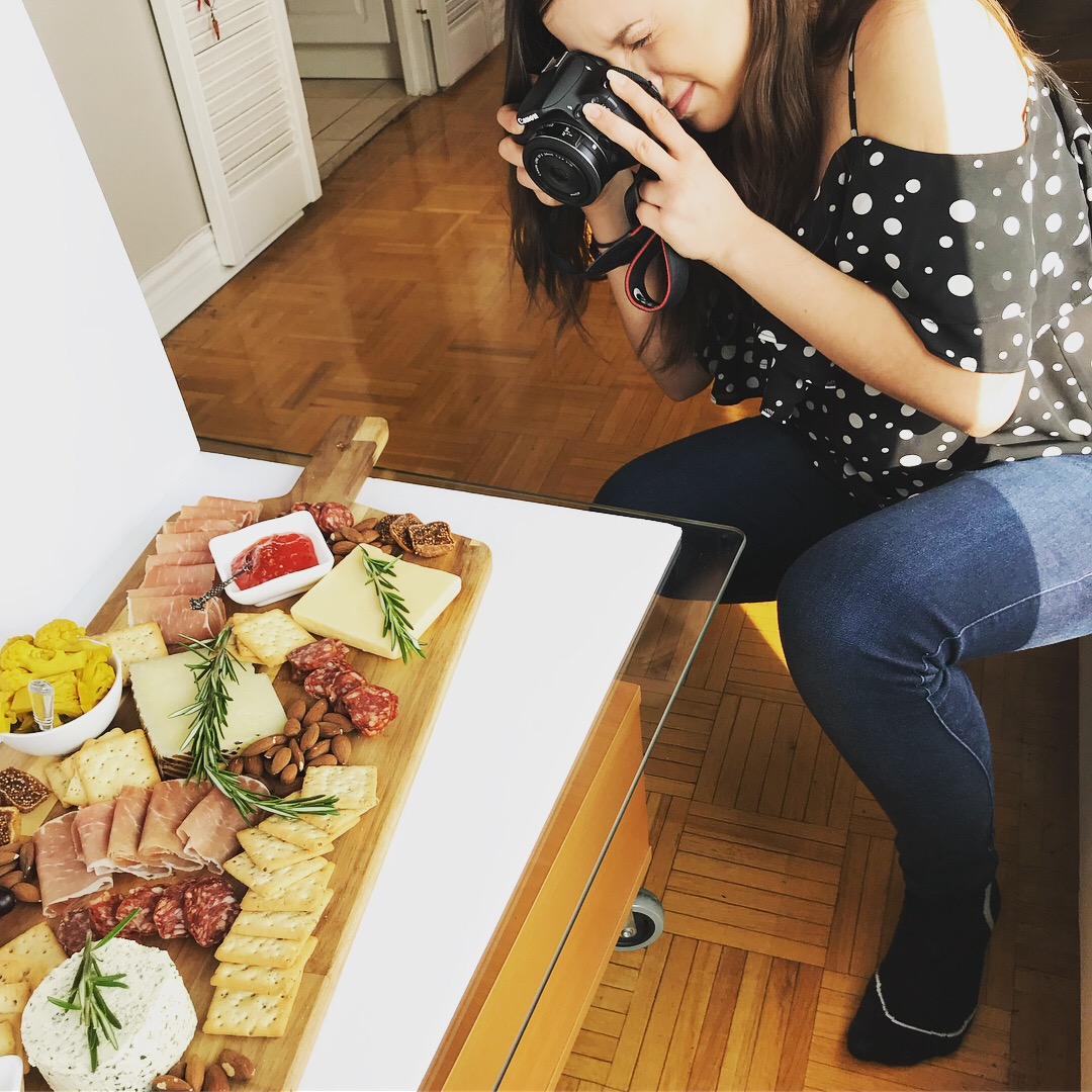 charcuterie board photoshoot