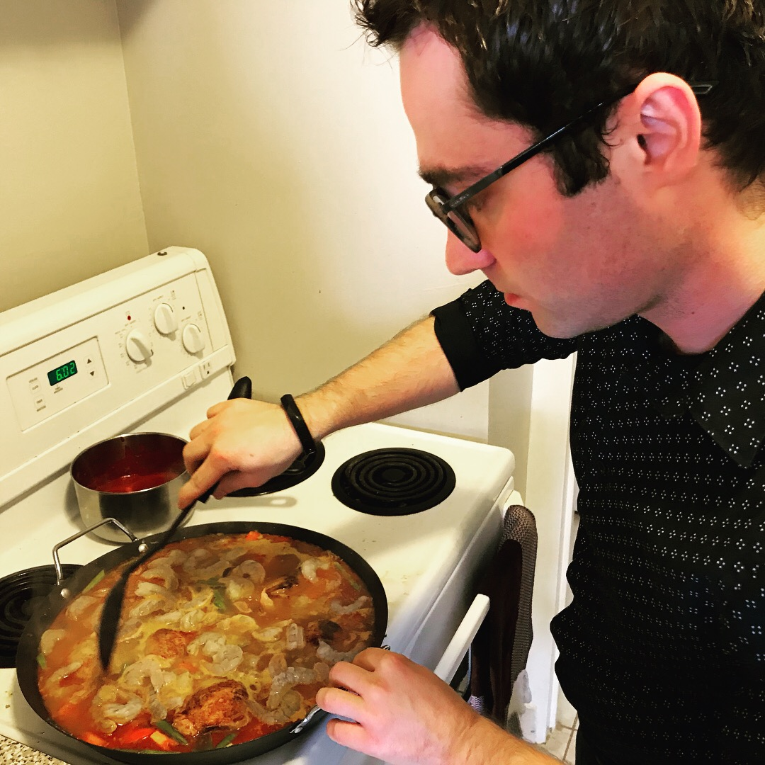 cooking Spanish cuisine