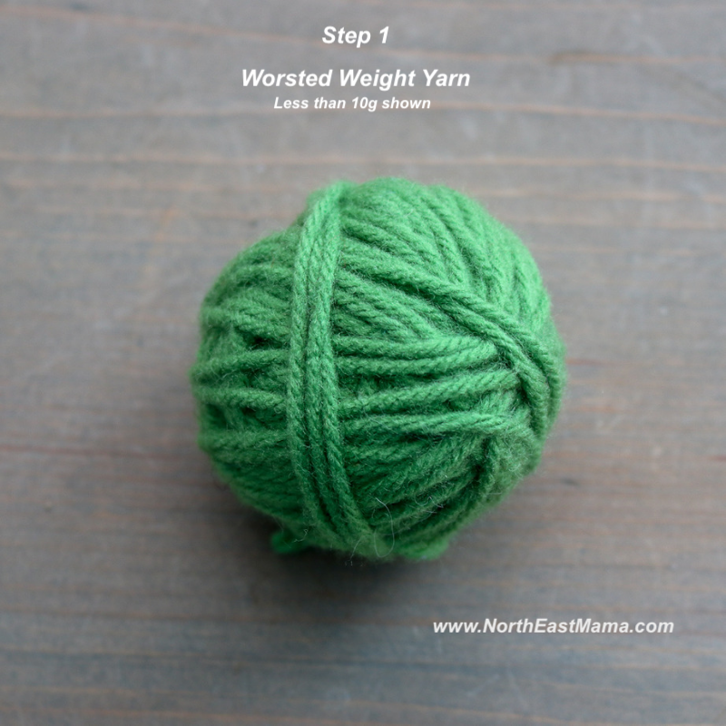 Crochet shamrock pattern step 1
