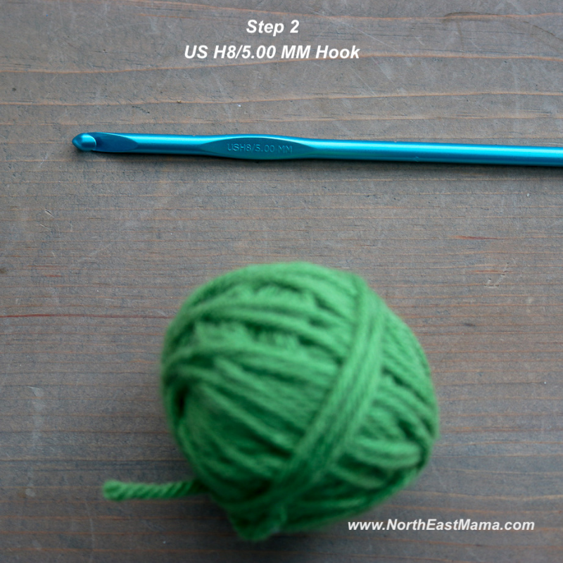 Crochet shamrock pattern step 2