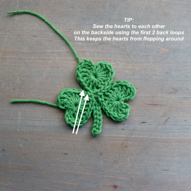 Crochet shamrock pattern helpful hint