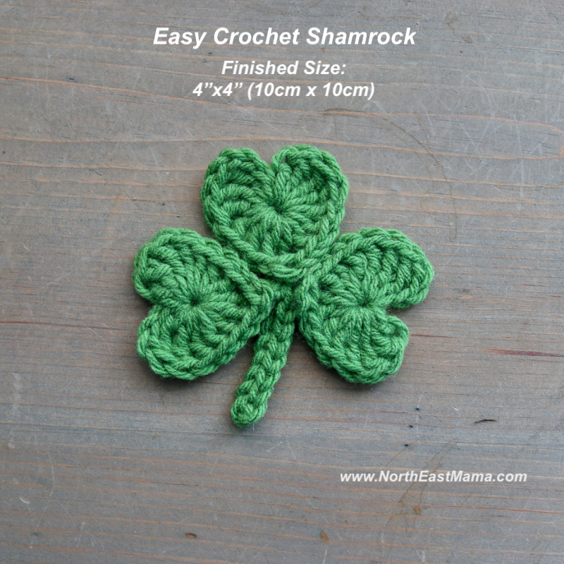 Crochet shamrock pattern Finished