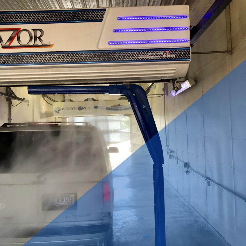 automatic car wash installation