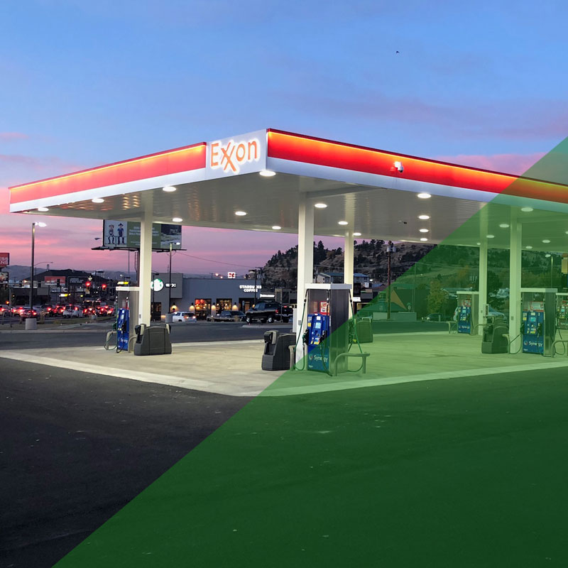 led lighting for fuel stations