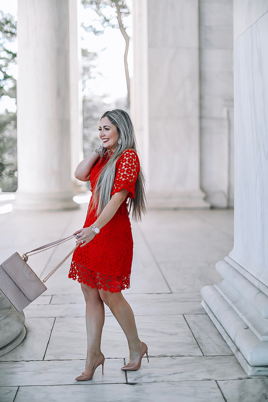 Red Lace Spring Dress