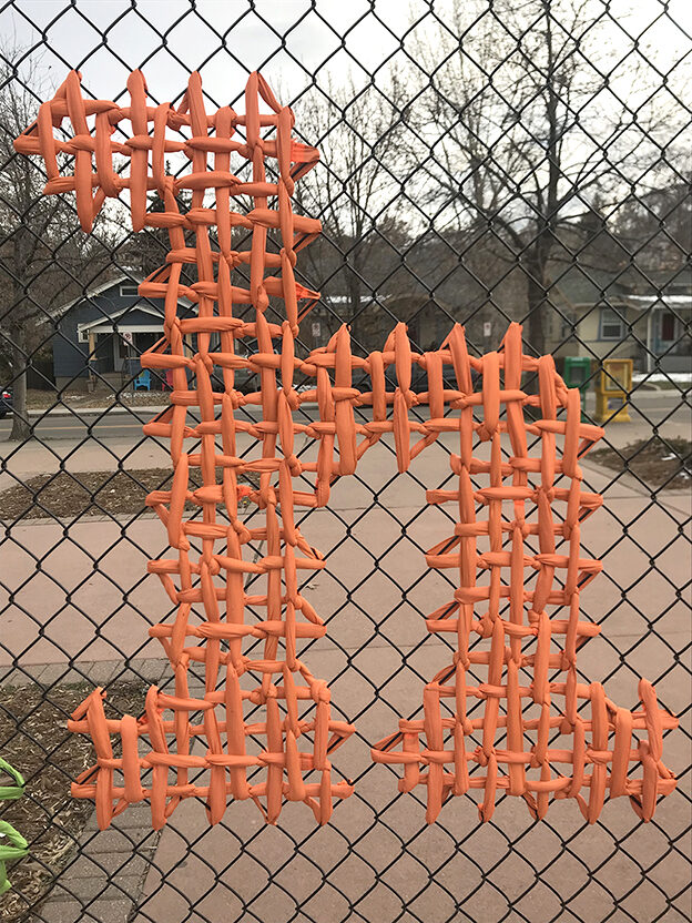Hello, Community project, Weaving on fence | USA 2018-2019