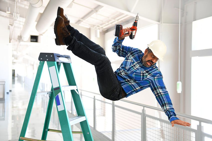 Man Falling Off Ladder: Workers Comp NYC Claim
