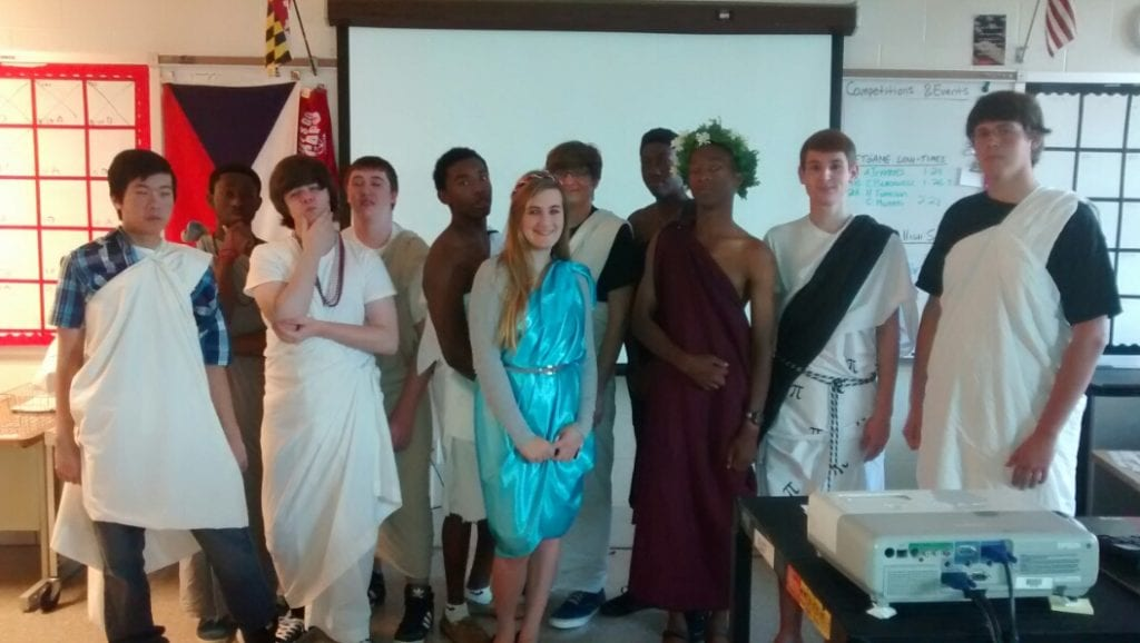 STEM Fun - Toga Day in Mathematical Modeling Class