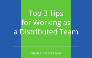Working as a Distributed Team