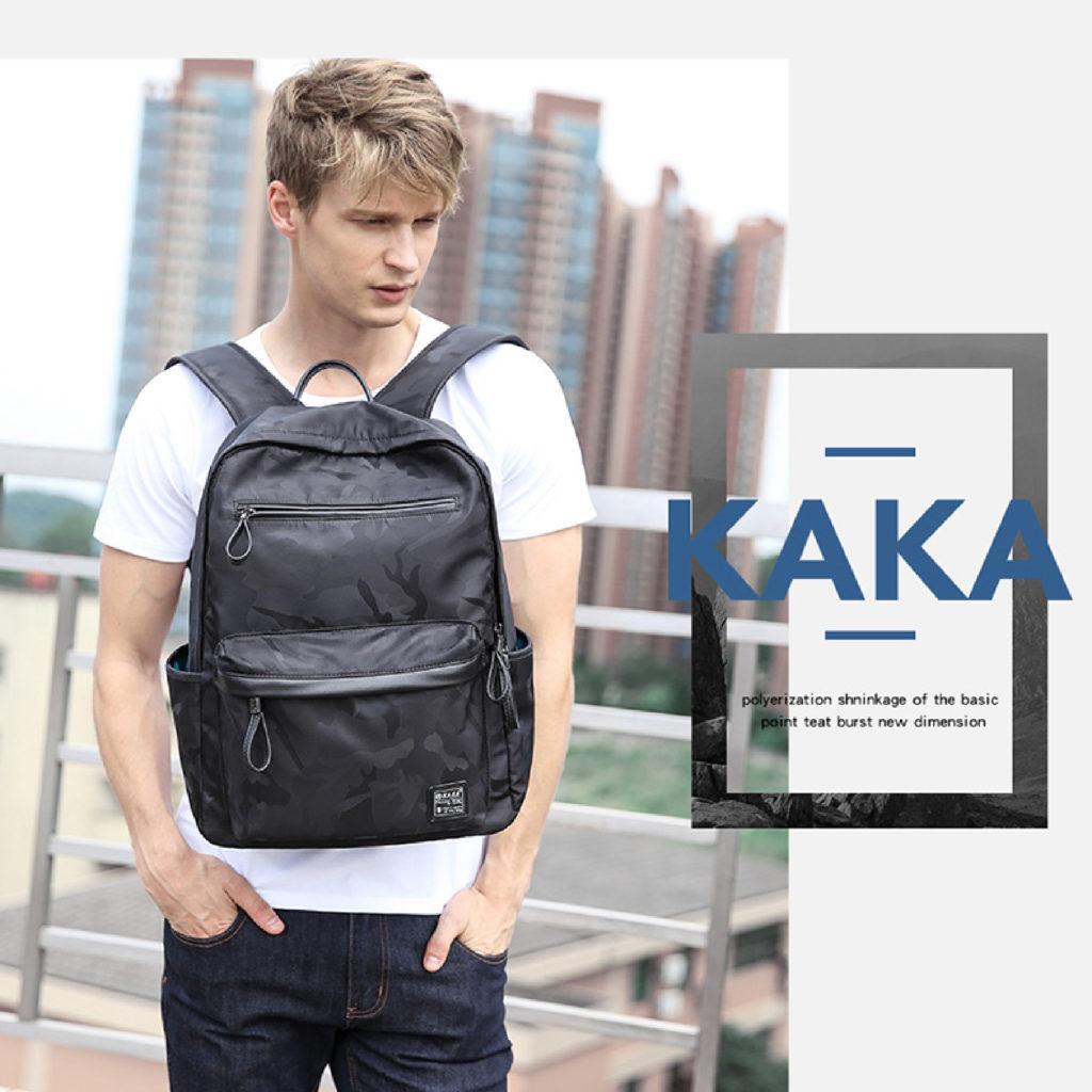 酷黑迷彩後背包-卡卡KAKA