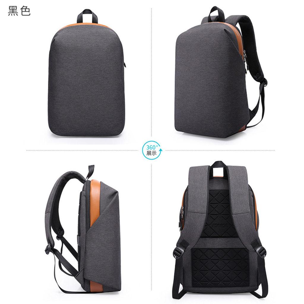 素面防盜筆電後背包-黑色包包