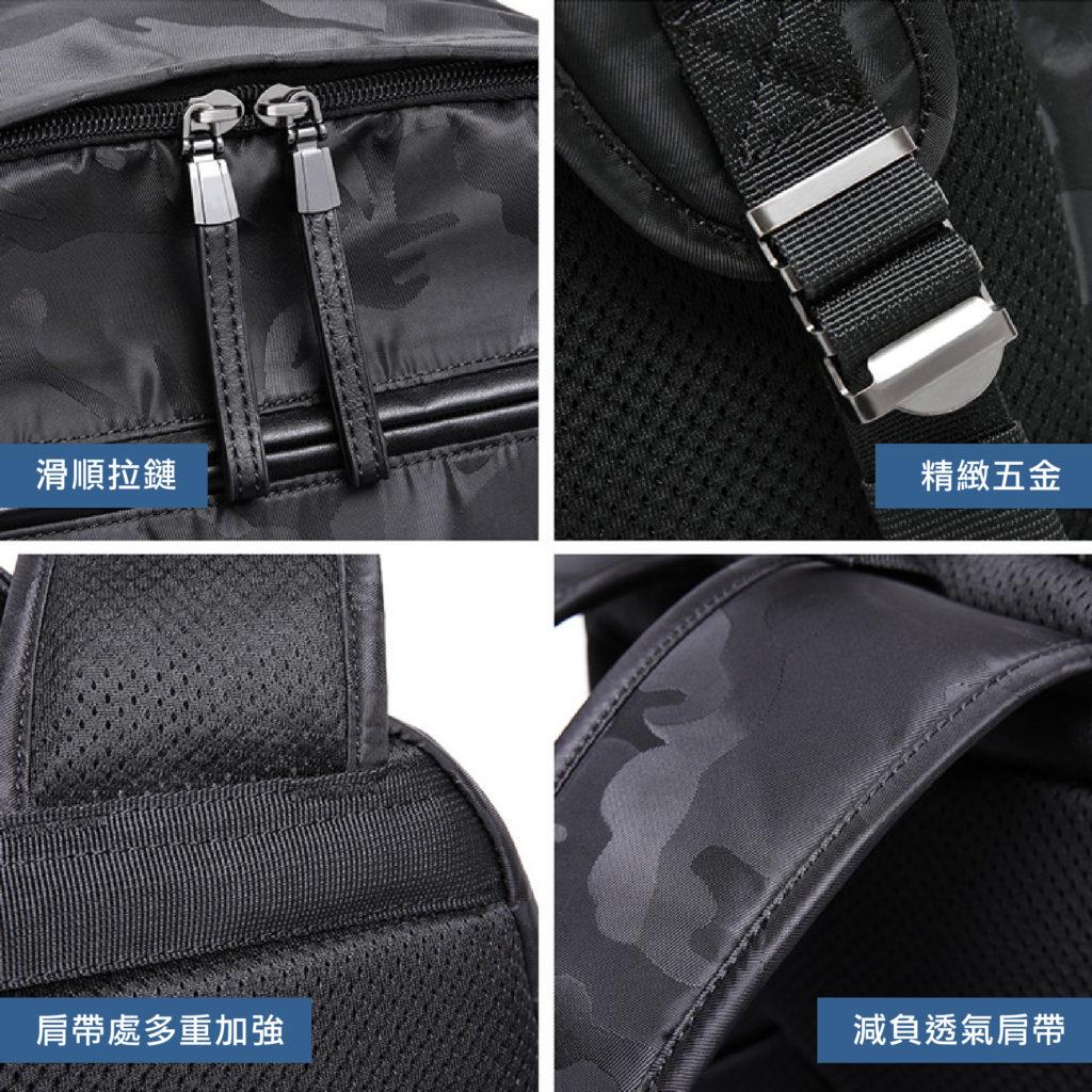 酷黑迷彩後背包-透氣背帶