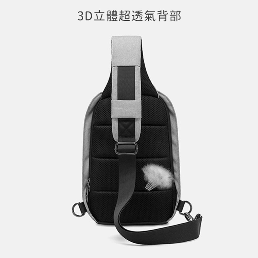 多層收納單肩防盜包-背部透氣