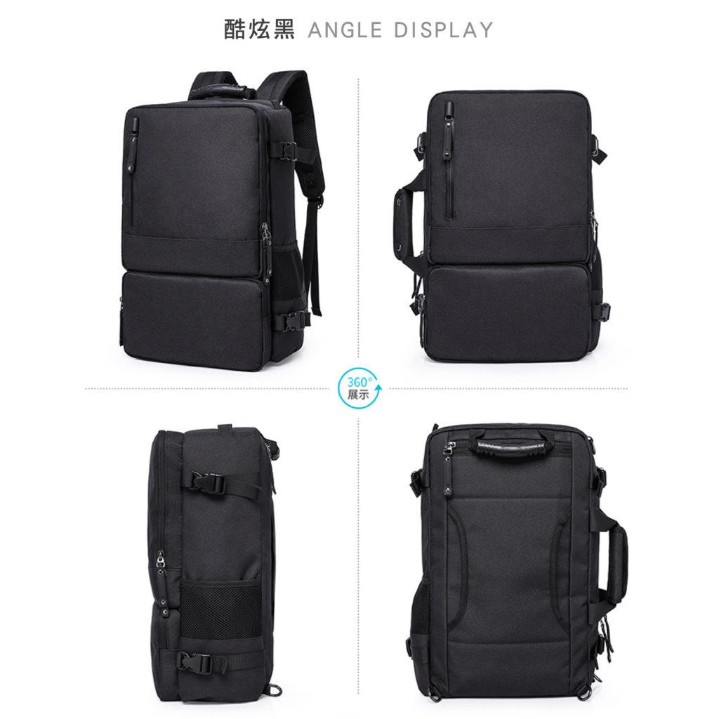 三用防盜筆電後背包-黑色包包