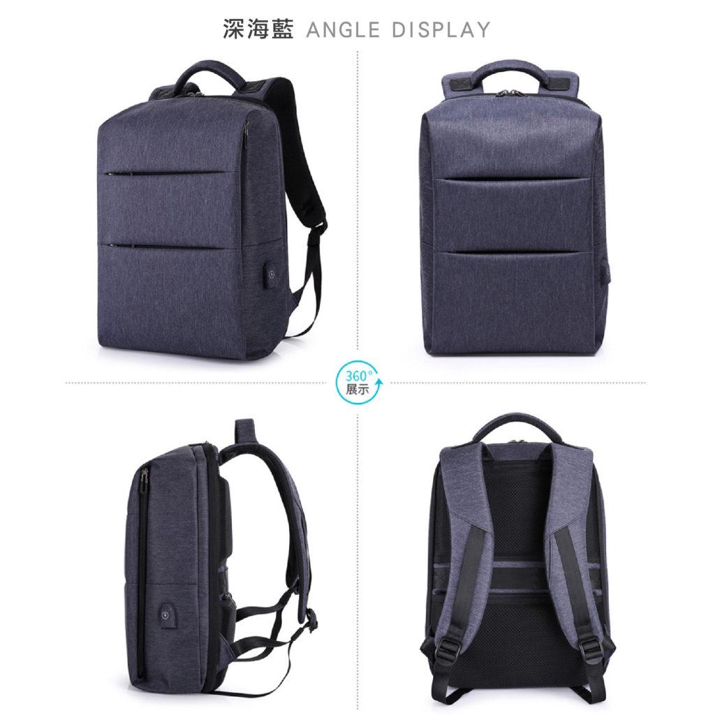 卡卡KAKA 防盜筆電後背包-藍色包包