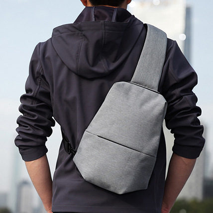 韓版單肩包-灰色包包