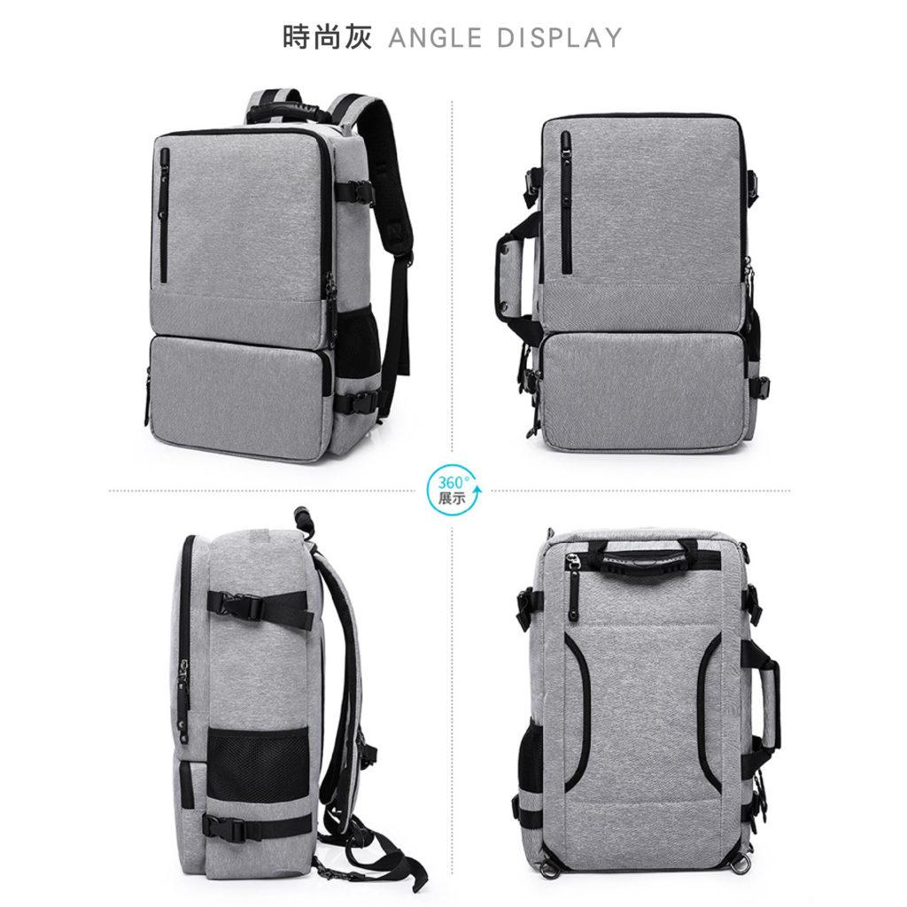 三用防盜筆電後背包-灰色包包