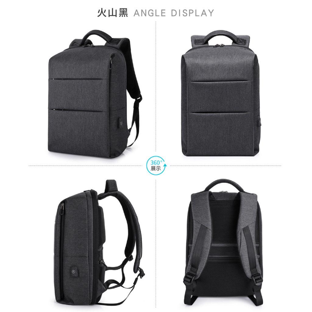 卡卡KAKA 防盜筆電後背包-黑色包包