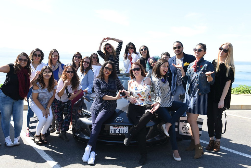 Group photo from the Mazda Field Trip #WeAllGrow