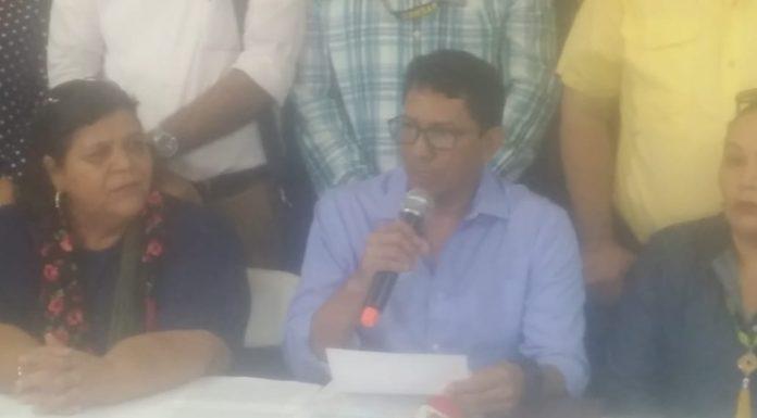 Sindicalistas apoyan a Miguel Aguilar