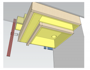 Control Closet's Equipment Rack Ventilation & Electrical engineering rendering by dmg Martinez Group in Miami